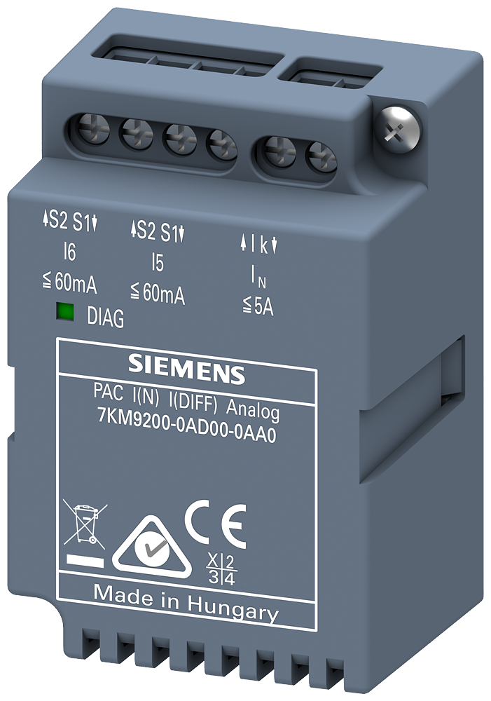 I(N),I(Diff) expansion module,analog, plug-in, for 7KM PAC3200 / 4200