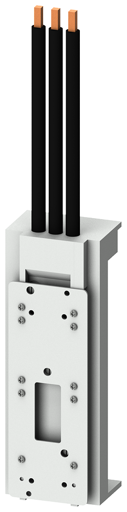 ШИННЫЙ АДАПТЕР UL508A/IE BUSBAR ADAPTER SYSTEM 60MM BUSBAR WIDTH: 5/10MM/TT-PROFILE UL RATING 80A/600V APPLICABLE IN FEEDER CIRCUITS IEC RATING 100A/690V FOR SIRIUS 3R CIRCUIT BREAKERS FOR SIRIUS 3R SIZE S3 LEAD OUTLET BOTTOM ADAPTER LENGTH 215MM ADAPTER