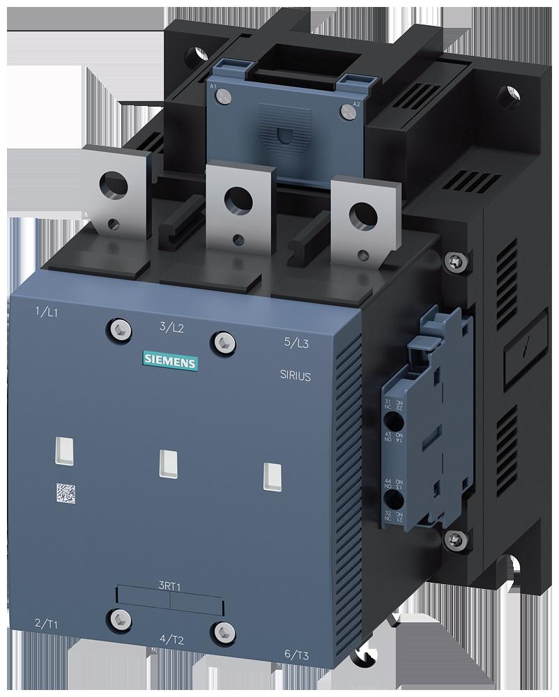 Vacuum contactor, AC-3, 225 A/110 kW/400 V, 3-pole, 23-26 V AC/DC, 2 NO+2 NC, connection bar/screw terminal