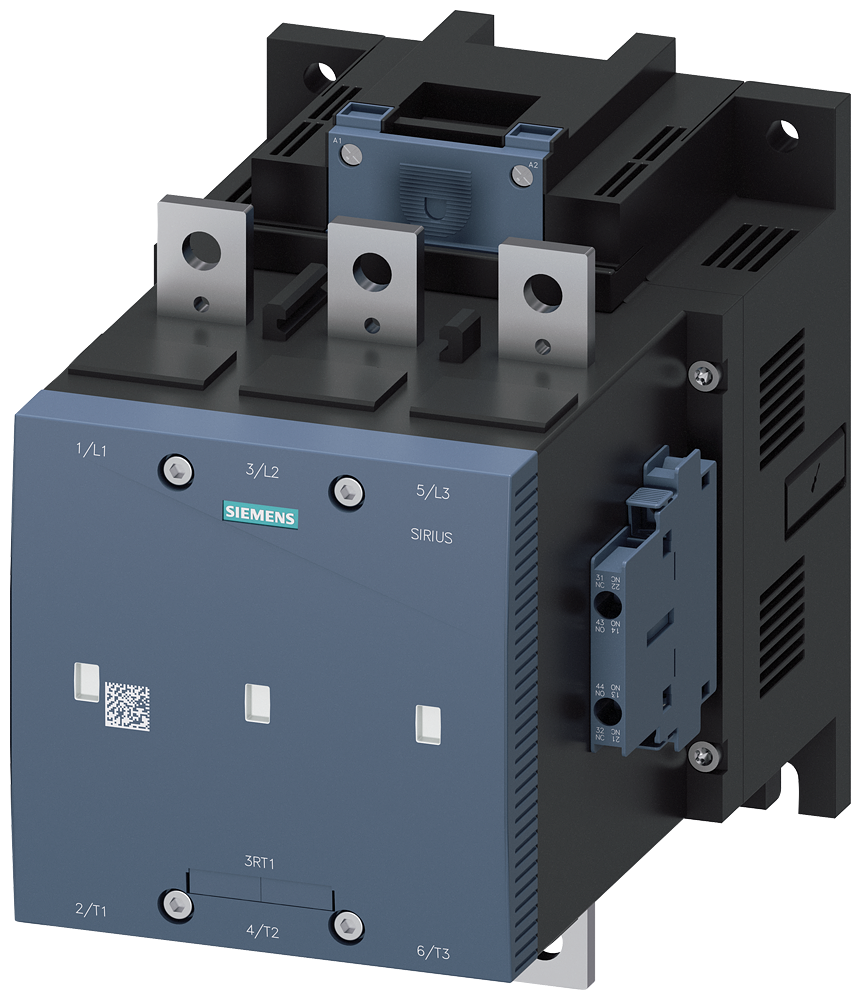 Vacuum contactor, AC-3, 400 A/200 kW/400 V, 3-pole, 42-48 V AC/DC, 2 NO+2 NC, connection bar/screw terminal