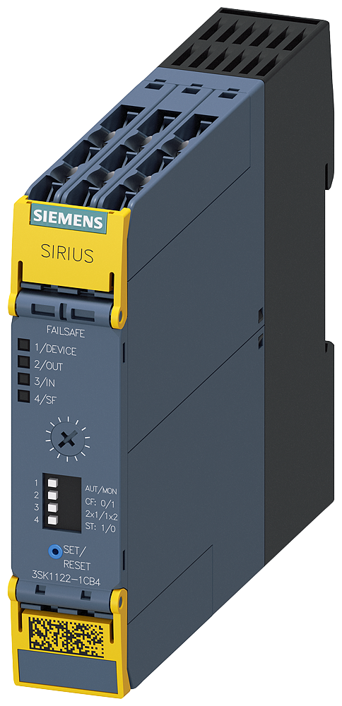 SIRIUS safety relay basic unit advanced series with time delay