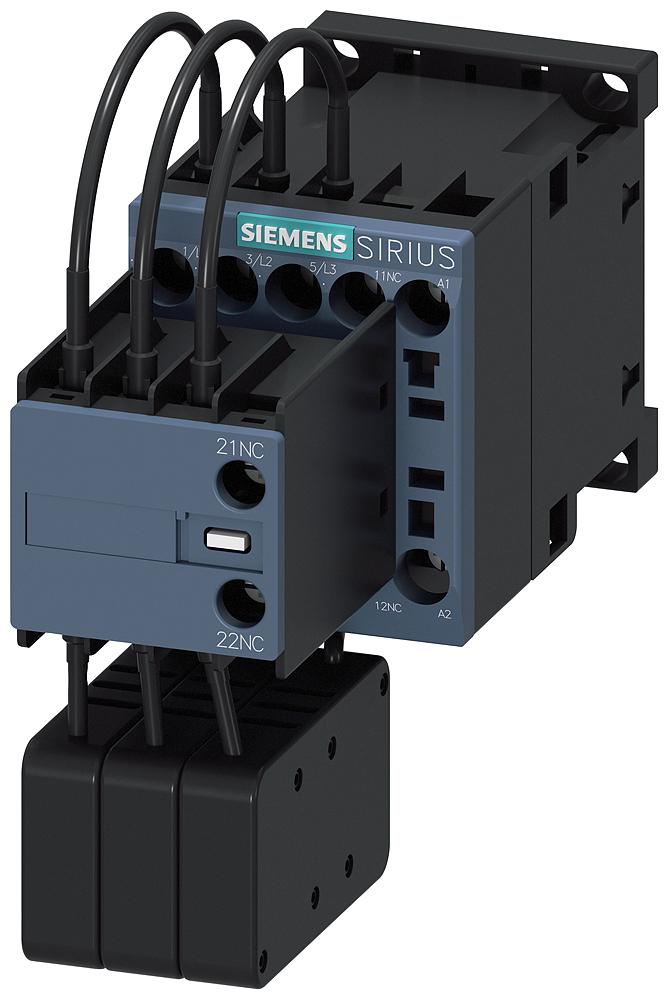 Contactor, AC-6B, 12.5 kVAr/400 V, 2 NC, 24 V AC, 50/60 Hz, size S00