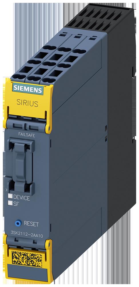 SIRIUS safety relay basic unit 3SK2, 10 F-DI, 2 F-DQ, 1 DQ, 24 V DC
