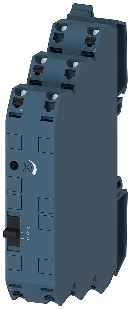 Signal converter 24 V AC/DC, 3-way on: 0-10 V, 0/4-20 mA off: 0-10 V, 0/4-20 mA