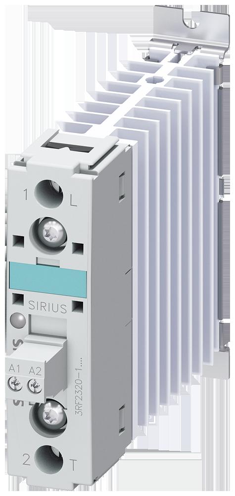 Solid-state contactor 3RF2, 1-ph. AC51 20 A/AC 15 12 A 48-460 V/24 V DC