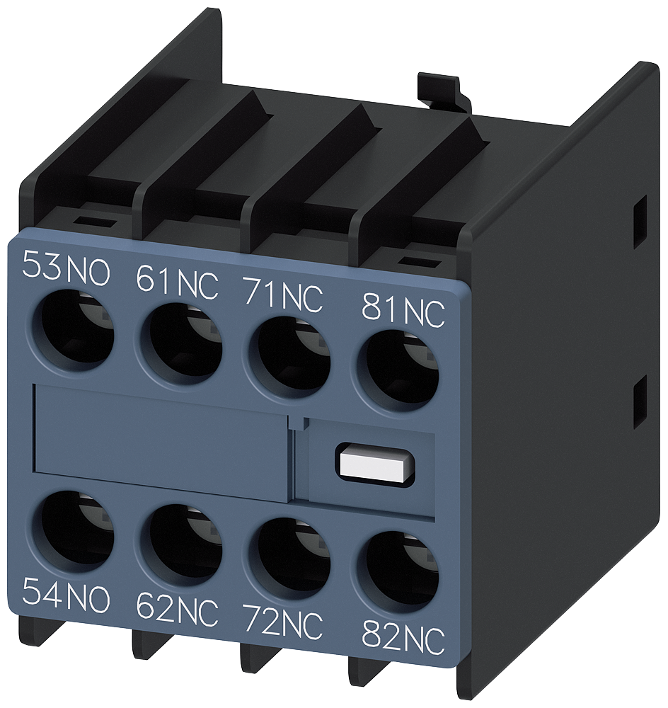 Auxiliary switch, 1 NO+3 NC, current path 1 NO, 1 NC, 1 NC, 1 NC, for contactor relays, S00