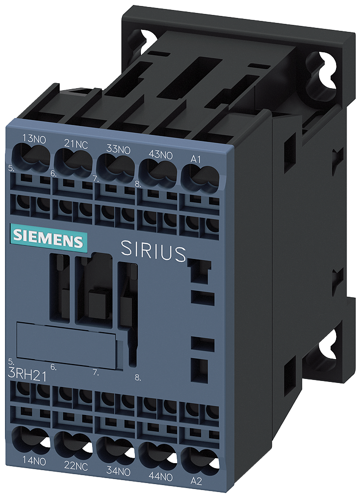 Contactor relay, 3 NO+1 NC, 110 V AC, 50/60 Hz, S00, spring-type terminal, with bridge rectification