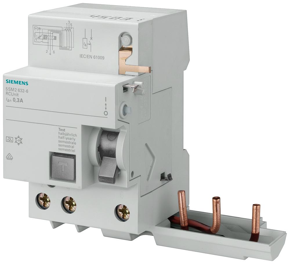 RC unit, 3-pole, type A, short-term delayed, In: 40A, 30mA, Un AC: 400 V