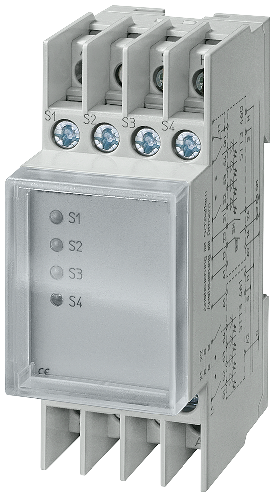 Fault signaling relay T5570 230 V AC 5 A additional detector with transparent cap