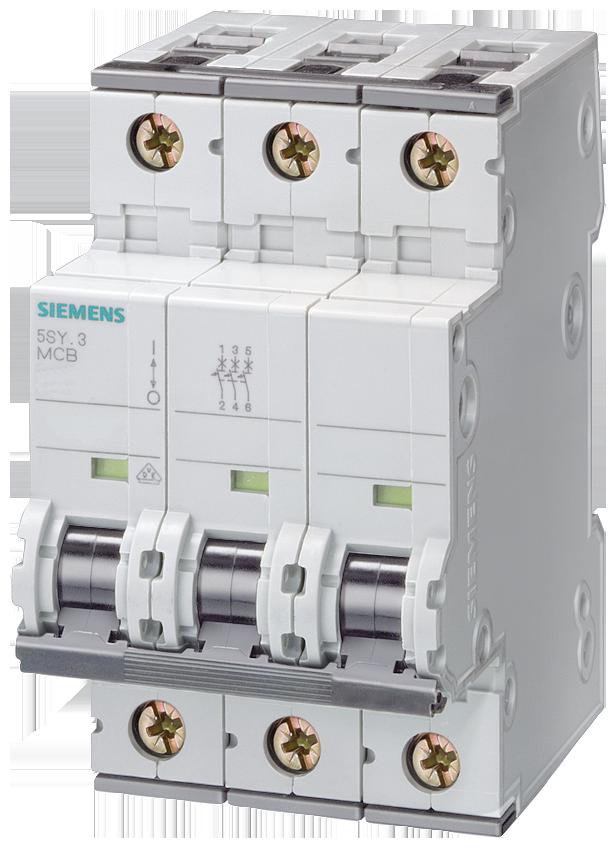 Miniature circuit breaker, 400 V, Icn: 10 kA, 3P, Icu: 35 kA, D-Char, In: 1 A