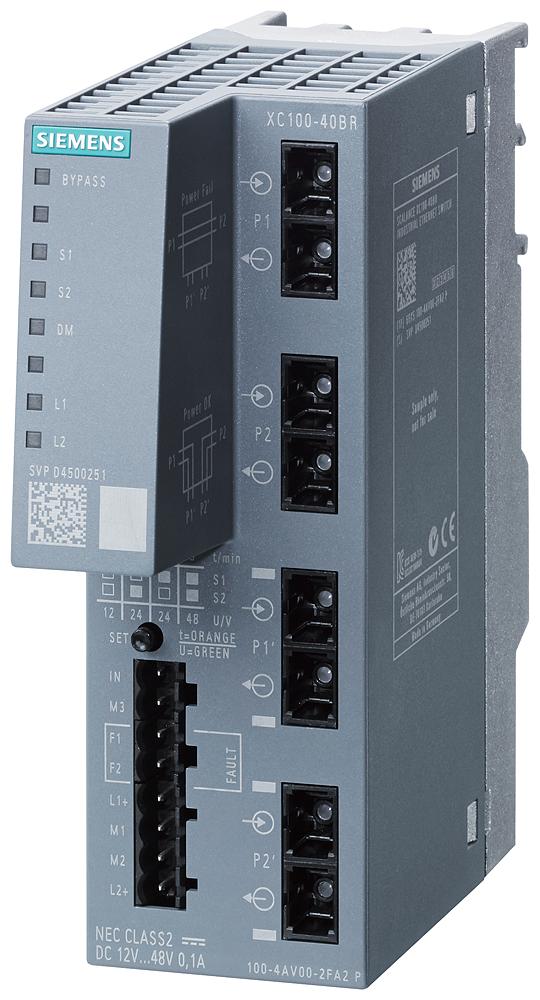 SCALANCE XC100-4OBR, optical bypass relay
