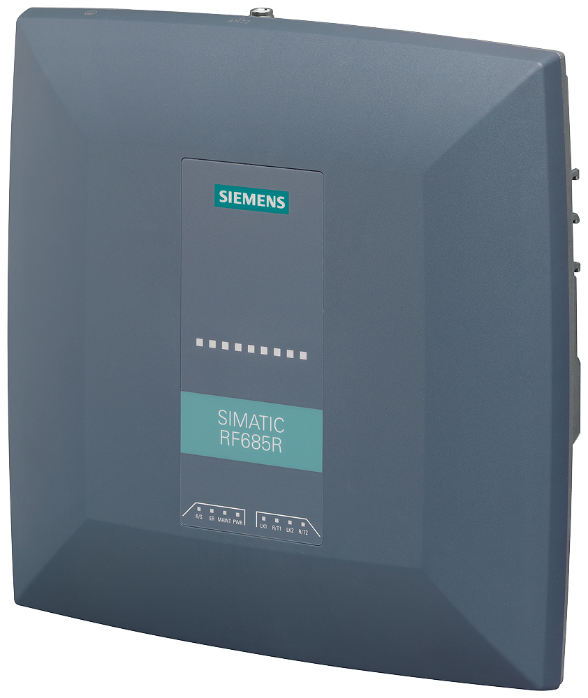 SIMATIC RF600 Reader RF685R ARIB  Interfaces: Ethernet M12 PROFINET M12 1 integrated antenna+1 ext. antenna port, 4 dig. inputs/ 4 dig. outputs, 24V D