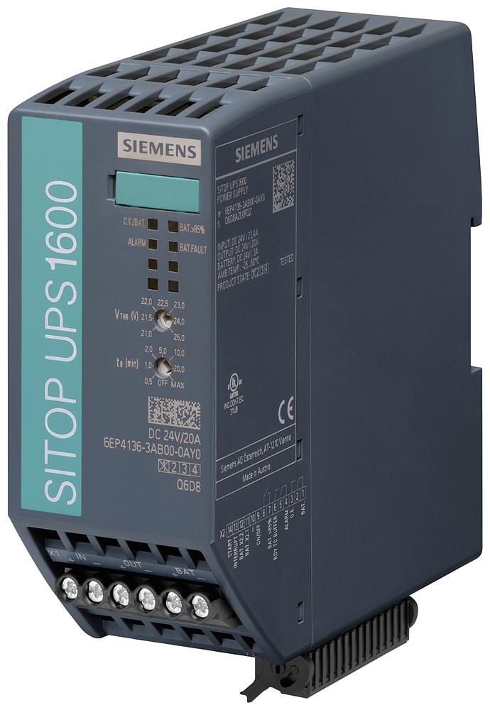Uninterruptible power supply SITOP UPS1600, 24 V DC/20 A