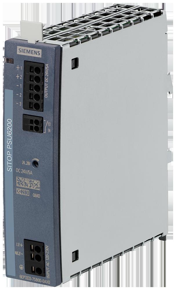 SITOP, стабилизированный блок питания PSU6200 24 V/5 A, вход: ~120/230 В, выход: =24 В/5 A