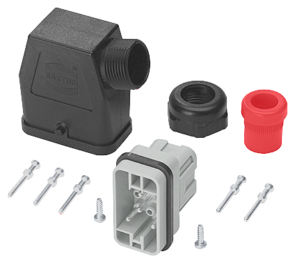 Connector set, forwarding 6 x 4 mm2, 9-pole, complete with PG16 cable entry