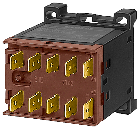 Contactor S00 3-pole AC-3 4 kW/400 V, standard mounting rail auxiliary switch 01E AC operation