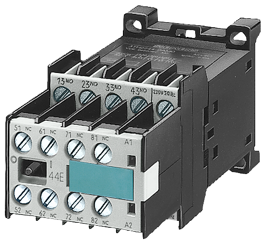 Contactor relay, 44E, EN 50011, 4 NO + 4 NC  Screw terminal Width 45 mm 110 V DC DC operation !!! Phased-out product !!! Successor is SIRIUS 3RH21