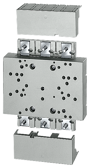ШИННЫЙ АДАПТЕР 185MM WIDE FOR SWITCHING UNITS UP TO 630A (3KA53,3KL52/53,3NP42, WITH 3VF4/5, 3VL1-4, IN CONNECTION WITH 8US1927-4AF0 MOUNTING PLATE ONLY. 60MM SYSTEM, 5 + 10MM BUSBAR THICKNESS WITHOUT CONNECTION WIRING