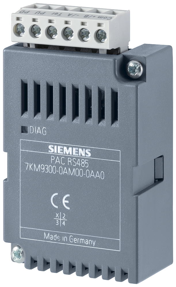 RS485 expansion module, plug-in, for 7KM PAC3200 / 4200 / 3VA COM100 / 800