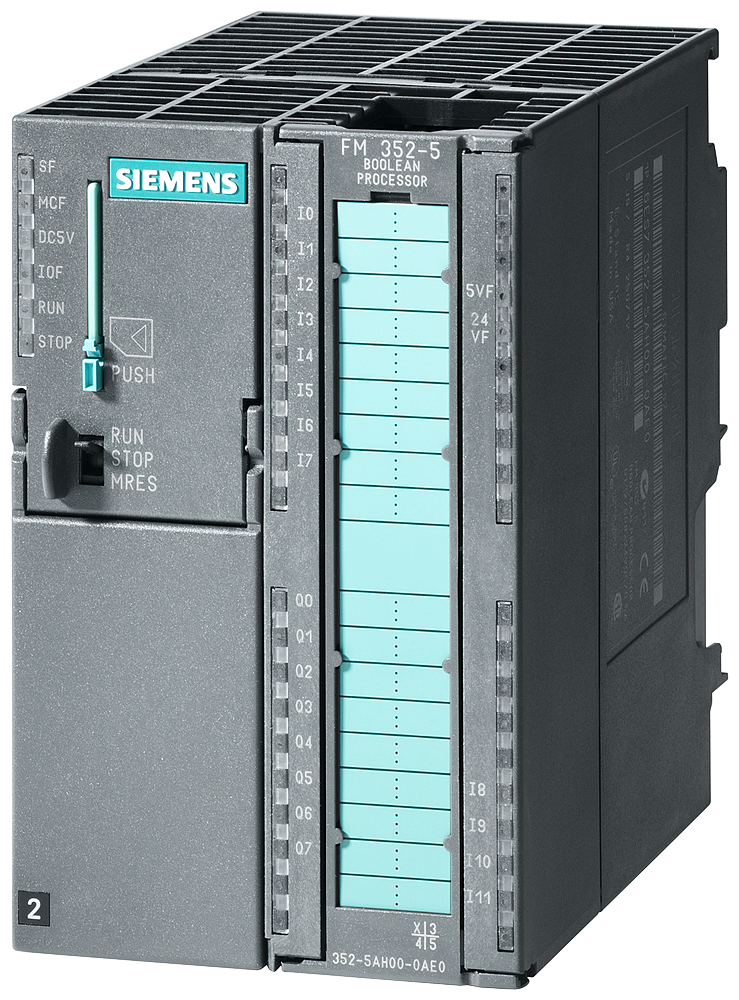 SIMATIC S7-300, FM352-5 with NPN output, High Speed Boolean Processor, for high-speed linking, 12 DI, 8 DO, 1 encoder interface for RS422 incr./SSI en